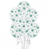 Marijuana Balloons 11in Premium (Crystal Clear)