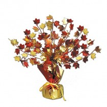 Fall Leaves Gleam 'N Burst Centerpiece 15""