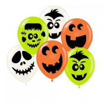 Halloween Friendly Face Balloon Assortment