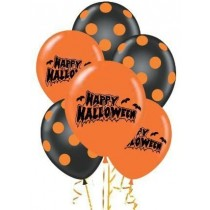 Pumpkin and Polka Dot Print.