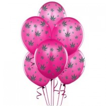 Marijuana Balloons 11in Premium (Hot Pink)