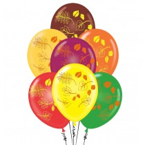 PMU Autumn Leaves Balloons 11 Inch Premium Assortment