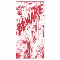 Halloween Bloody Door Cover 30in  x 5ft (1 Count) (Pkg/1)