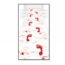 Halloween Bloody Footprints Runner 24in. x 10ft