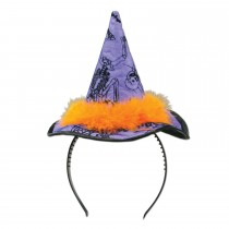 Halloween Witch Hat Headband Party Accessory (1 Count) (Pkg/1)