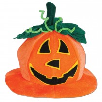 Plush Jack-O-Lantern Hat (1 Count) (Pkg/1)
