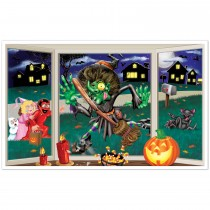 Halloween Crashing Witch Insta View 3ft.2in. X 5ft. 2in.