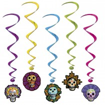 Halloween Day Of The Dead Whirls Party Accessory (5 Count) (Pkg/1)