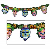 "Day Of The Dead Streamer 9"" x 4' 6"" (1 Count) (Pkg/1)"