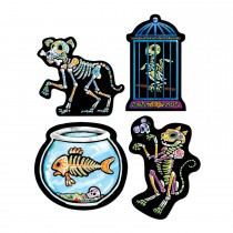 "Day of the Dead Pet Cutouts 16"" (4 Count) (Pkg/1)"