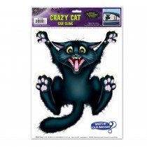"Halloween Crazy Cat Car Cling 12"" x 17"" Sh (1/Sh) (1/Pkg)"