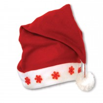 Christmas Light-Up Santa Hat (1 Count) (Pkg/1)