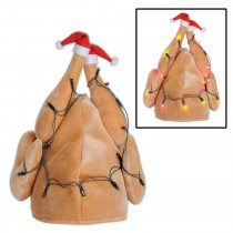 Christmas Plush Light-Up Turkey Hat  (1 Count) (Pkg/1)