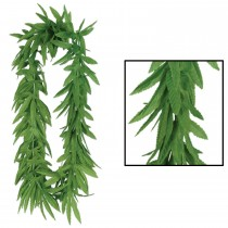 Marijuana Lei Tropical Fern Leaf Green Party Accessory (1 Count) (Pkg/1)