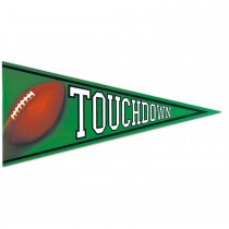 Football Pennant Cutout, 24in (1 Count) (Pkg/1)
