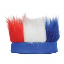Patriotic Hairy Headband Party Accessory (Red, White, Blue)