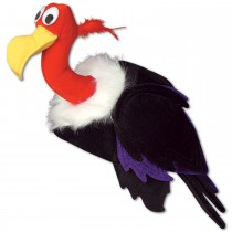Plush Vulture Hat Party Accessory (1 Count) (Pkg/1)