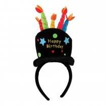 Plush Happy Birthday Headband Party Accessory (1 Count) (Pkg/1)