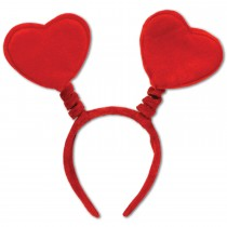Valentine's Day Red Heart Head Boppers Headband (1 Count) (Pkg/1)