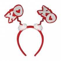 St. Valentine's Day Glittered XOXO Boppers Party Accessory