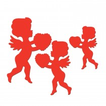 Valentine's Day Printed Cupid Cutouts (6 Count) (Pkg/1)