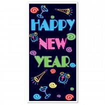 Happy New Year Door Cover 30in x 5ft (1 Count) (Pkg/1)