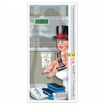 Happy New Year Restroom Door Cover 30in x 5ft (1 Count) (Pkg/1)