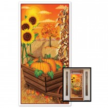 Thanksgiving Fall Door Cover 30in. x 5ft. (1 Count) (Pkg/1)