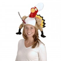 Thanksgiving Plush Chef Turkey Hat Party Accessory (1 Count) (Pkg/1)