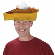 Thanksgiving Plush Pumpkin Pie Slice Novelty Hat (1 Count) (Pkg/1)