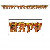 Happy Thanksgiving Streamer 5in. X 6ft. Party Accessory (1 Count) (Pkg/1)