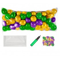 Balloon Drop Kit (Gold, Green and Purple)