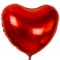 PMU St. Valentine's Day Red Heart Shaped Mylar - Foil Balloons 17 Inch