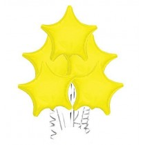 Opaque Yellow Star Balloon
