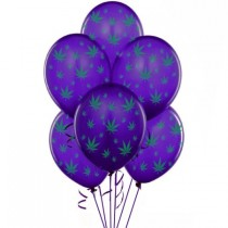 Marijuana Balloons 11in Premium (Purple)