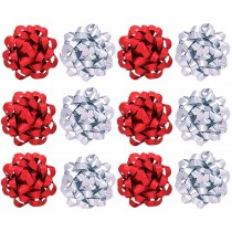 Decorative Confetti Gift Bows, Assorted Colors (12 Count) (Pkg/1)