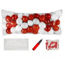 Balloon Drop Kit (Red and White) (Pkg/1)