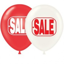 Red and White SALE Balloons 17 Inch Premium Latex