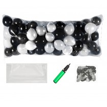 Balloon Drop Kit (Black, Silver)