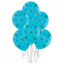 Marijuana Balloons 11in Premium (Blue)