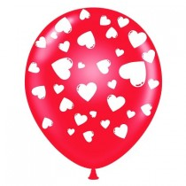 Valentine's Day Balloons 11 Inch Premium Latex (Red)