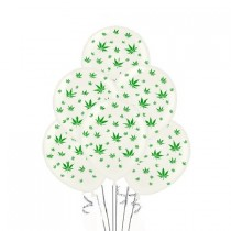Marijuana Balloons 11in Premium (White)