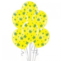 Marijuana Balloons 11in Premium (Yellow)