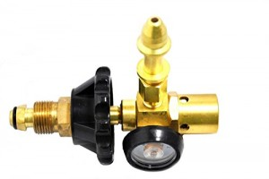 Balloon Filler Latex - Helium Gas Saver 60/40 Helium/Air Mix with Pressure Gauge - Hand Tight Connection - Brass -Made in the USA